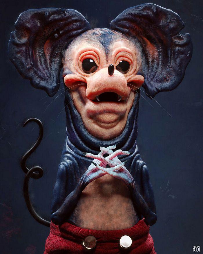 Versões assustadoras dos seus desenhos animados favoritos por este artista brasileiro (43 fotos) 2