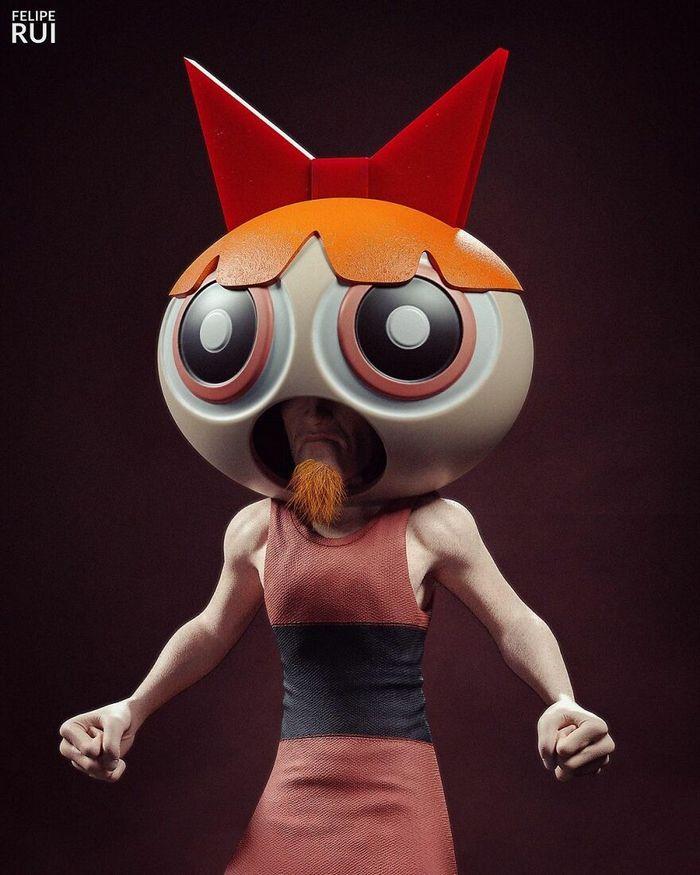Versões assustadoras dos seus desenhos animados favoritos por este artista brasileiro (43 fotos) 29